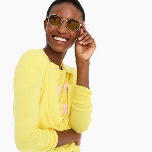 J. Crew Cotton Jackie Cardigan Sweater in Yellow
